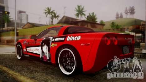 Chevrolet Corvette Z51 Another Itasha для GTA San Andreas вид слева