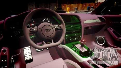 Audi S4 Avant Unmarked Police [ELS] для GTA 4 вид изнутри