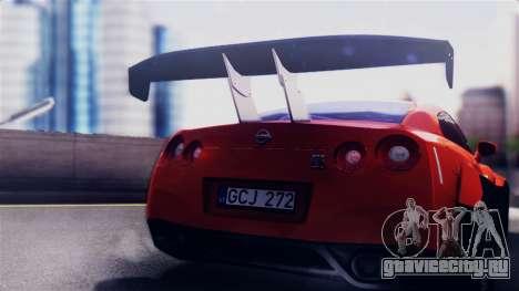 Nissan GT-R R35 LW для GTA San Andreas вид справа