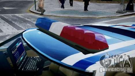 Bullet Police Car для GTA 4 вид сзади