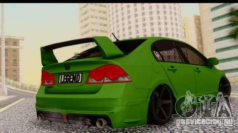 Honda Civic FD6 для GTA San Andreas вид слева