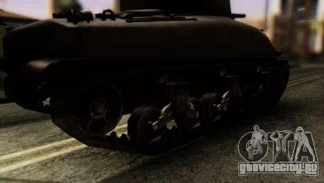 M4 Sherman v1.1 для GTA San Andreas вид сзади слева