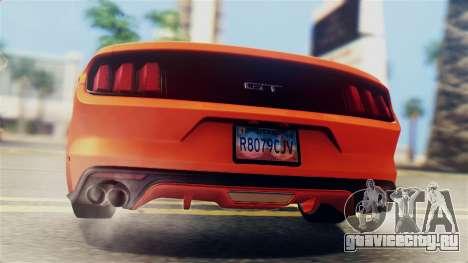 Ford Mustang GT 2015 Stock Tunable v1.0 для GTA San Andreas вид сбоку