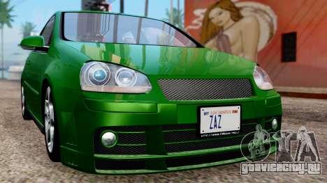 Volkswagen Golf Mk5 GTi Tunable PJ для GTA San Andreas вид сбоку