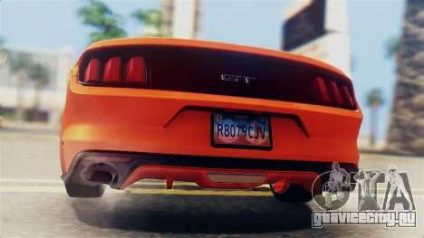 Ford Mustang GT 2015 Stock Tunable v1.0 для GTA San Andreas вид сверху