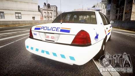 Ford Crown Victoria RCMP Campbellton [ELS] для GTA 4 вид сзади слева
