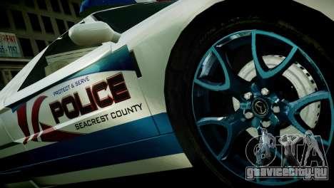Bullet Police Car для GTA 4 вид сзади слева