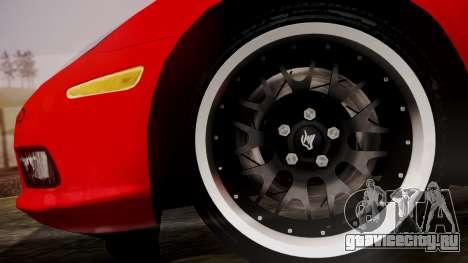 Chevrolet Corvette Z51 Another Itasha для GTA San Andreas вид сзади слева