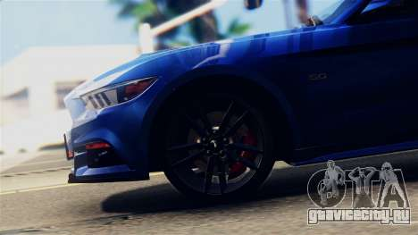 Ford Mustang GT 2015 Stock Tunable v1.0 для GTA San Andreas вид сзади