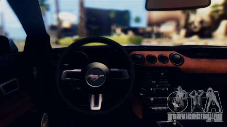 Ford Mustang GT 2015 Stock Tunable v1.0 для GTA San Andreas вид изнутри