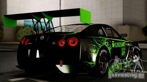 Nissan GT-R (R35) GT3 2012 PJ4 для GTA San Andreas вид изнутри