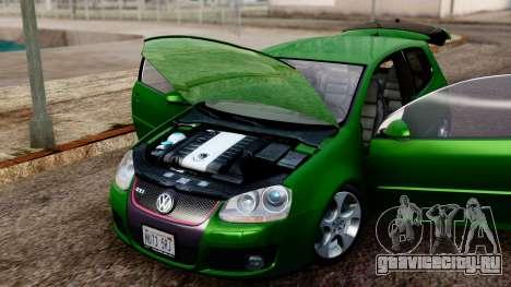 Volkswagen Golf Mk5 GTi Tunable PJ для GTA San Andreas вид сзади