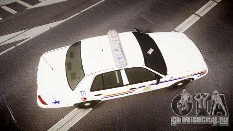 Ford Crown Victoria RCMP Campbellton [ELS] для GTA 4 вид справа