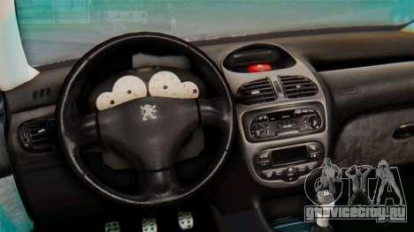 Peugeot 206 Coupe Police для GTA San Andreas вид сзади