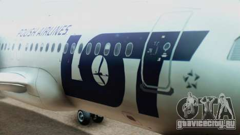 LOT Polish Airlines Airbus A320-200 (New Livery) для GTA San Andreas вид сзади