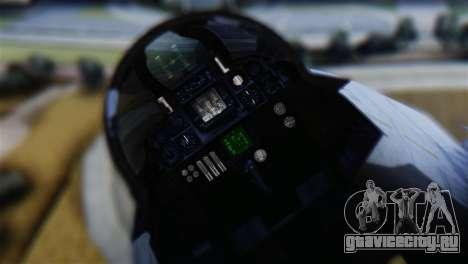 F-14A Tomcat VF-111 Sundowners Low Visibility для GTA San Andreas вид сзади