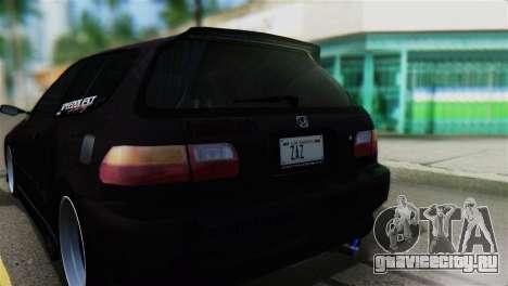 Honda Civic EG6 Kotomi Clannad Itasha для GTA San Andreas вид сзади