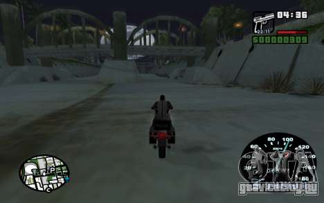 Спидометр от ВАЗ 2105 для GTA San Andreas