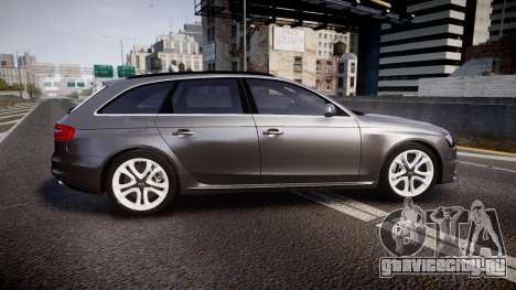 Audi S4 Avant Unmarked Police [ELS] для GTA 4 вид слева
