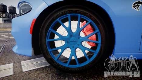 Dodge Charger SRT 2015 Hellcat для GTA 4 вид сзади