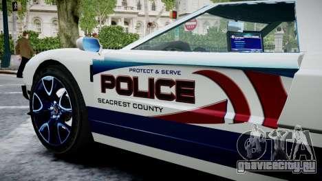 Bullet Police Car для GTA 4 вид справа