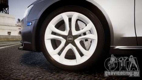 Audi S4 Avant Unmarked Police [ELS] для GTA 4 вид сзади