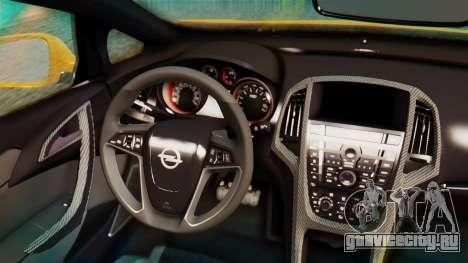 Opel Astra J OPC для GTA San Andreas вид сзади