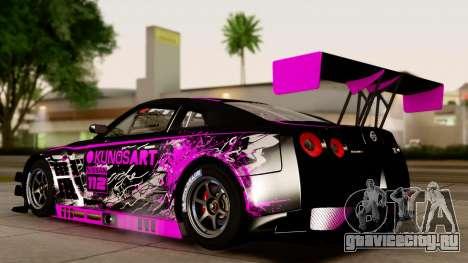 Nissan GT-R (R35) GT3 2012 PJ4 для GTA San Andreas вид справа