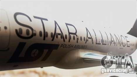 LOT Polish Airlines Airbus A320-200 для GTA San Andreas вид сзади