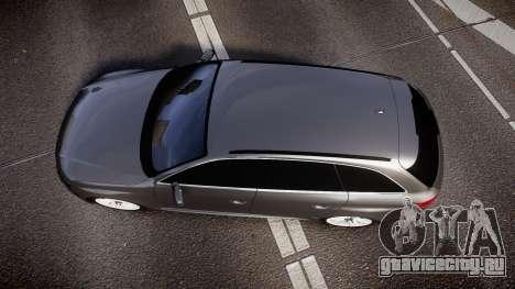 Audi S4 Avant Unmarked Police [ELS] для GTA 4 вид справа