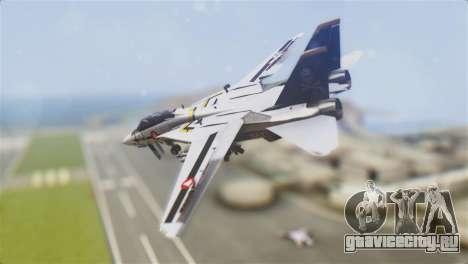 F-14D Tomcat Macross Yellow & Black для GTA San Andreas вид слева