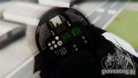 F-14D Tomcat Macross Yellow & Black для GTA San Andreas вид сзади