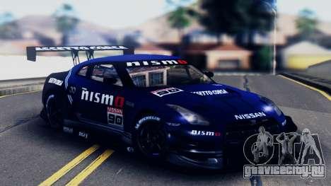 Nissan GT-R (R35) GT3 2012 PJ5 для GTA San Andreas вид снизу