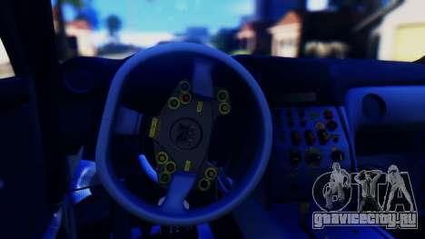 Nissan GT-R (R35) GT3 2012 PJ5 для GTA San Andreas вид изнутри