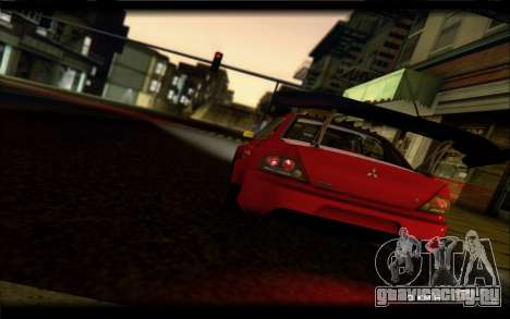 Mitsubishi Lancer Evolution IX Street Edition для GTA San Andreas вид справа