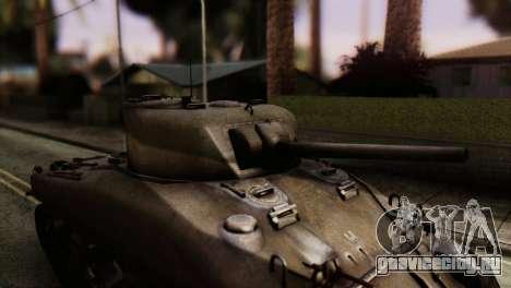 M4 Sherman v1.1 для GTA San Andreas вид сзади