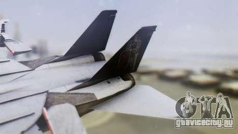 Grumman F-14A Tomcat для GTA San Andreas вид сзади слева
