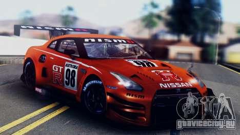 Nissan GT-R (R35) GT3 2012 PJ5 для GTA San Andreas салон