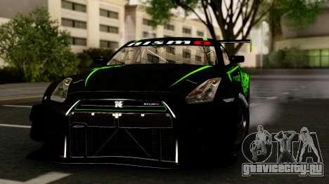 Nissan GT-R (R35) GT3 2012 PJ4 для GTA San Andreas вид сзади