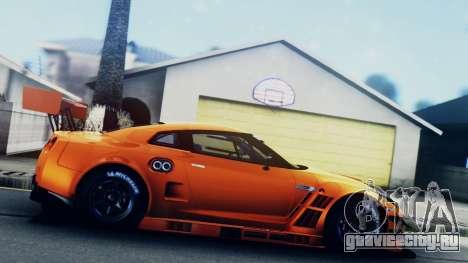 Nissan GT-R (R35) GT3 2012 PJ5 для GTA San Andreas вид сзади слева