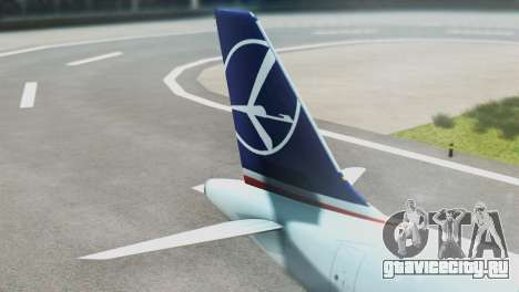 LOT Polish Airlines Airbus A320-200 (New Livery) для GTA San Andreas вид сзади слева