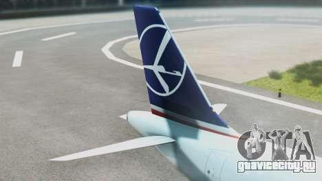LOT Polish Airlines Airbus A320-200 (New Livery) для GTA San Andreas вид сзади слева