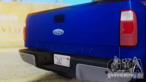 Ford F-350 Super Duty Regular Cab 2008 HQLM для GTA San Andreas вид сзади