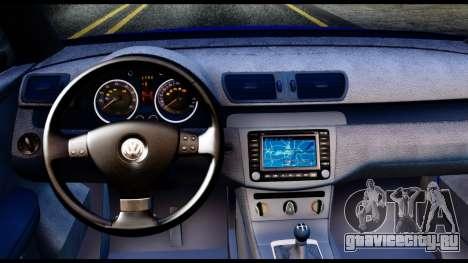 Volkswagen Passat B6 для GTA San Andreas вид сзади