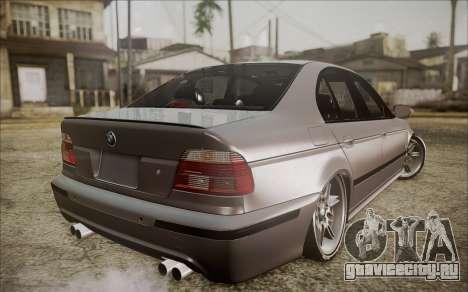 BMW M5 E39 E-Design для GTA San Andreas вид слева