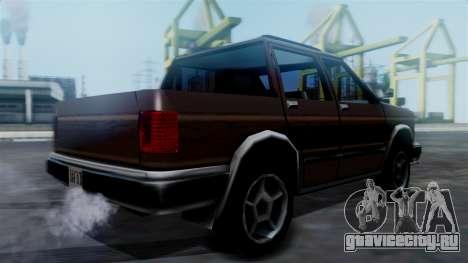 Landstalker Pickup для GTA San Andreas вид слева