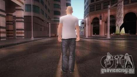 dnb1 Skin in Snowboard T-Shirt для GTA San Andreas третий скриншот