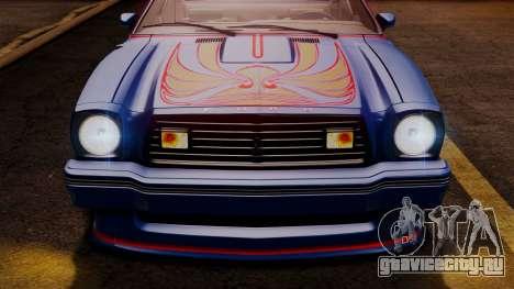 Ford Mustang King Cobra 1978 для GTA San Andreas колёса