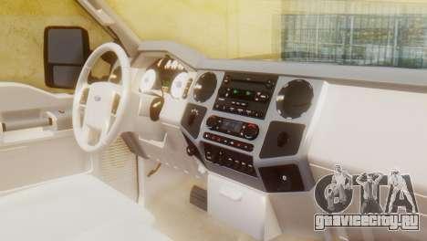 Ford F-350 Super Duty Regular Cab 2008 HQLM для GTA San Andreas вид справа