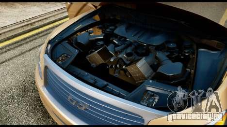Infiniti QX56 Final для GTA San Andreas вид сзади
